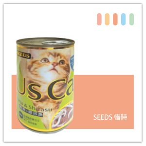 SEEDS US CAT愛貓餐罐400g 鮪魚+吻仔魚口味-01