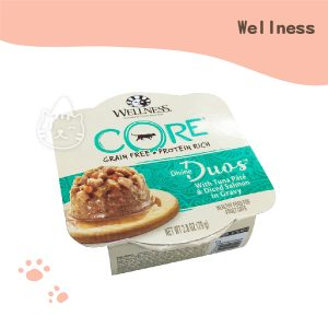 WELLNESS CORE DD寵鮮杯 貓用79g (鮭魚丁+鮪魚泥).
