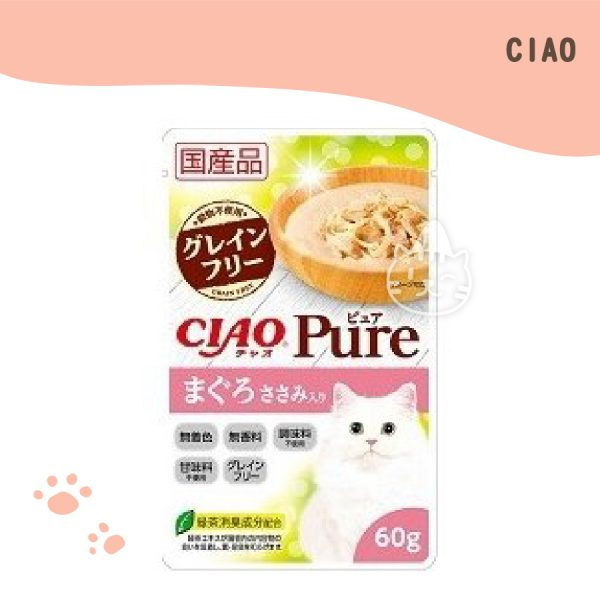 CIAO PURE 餐包 (鮪魚+雞肉) 60g.